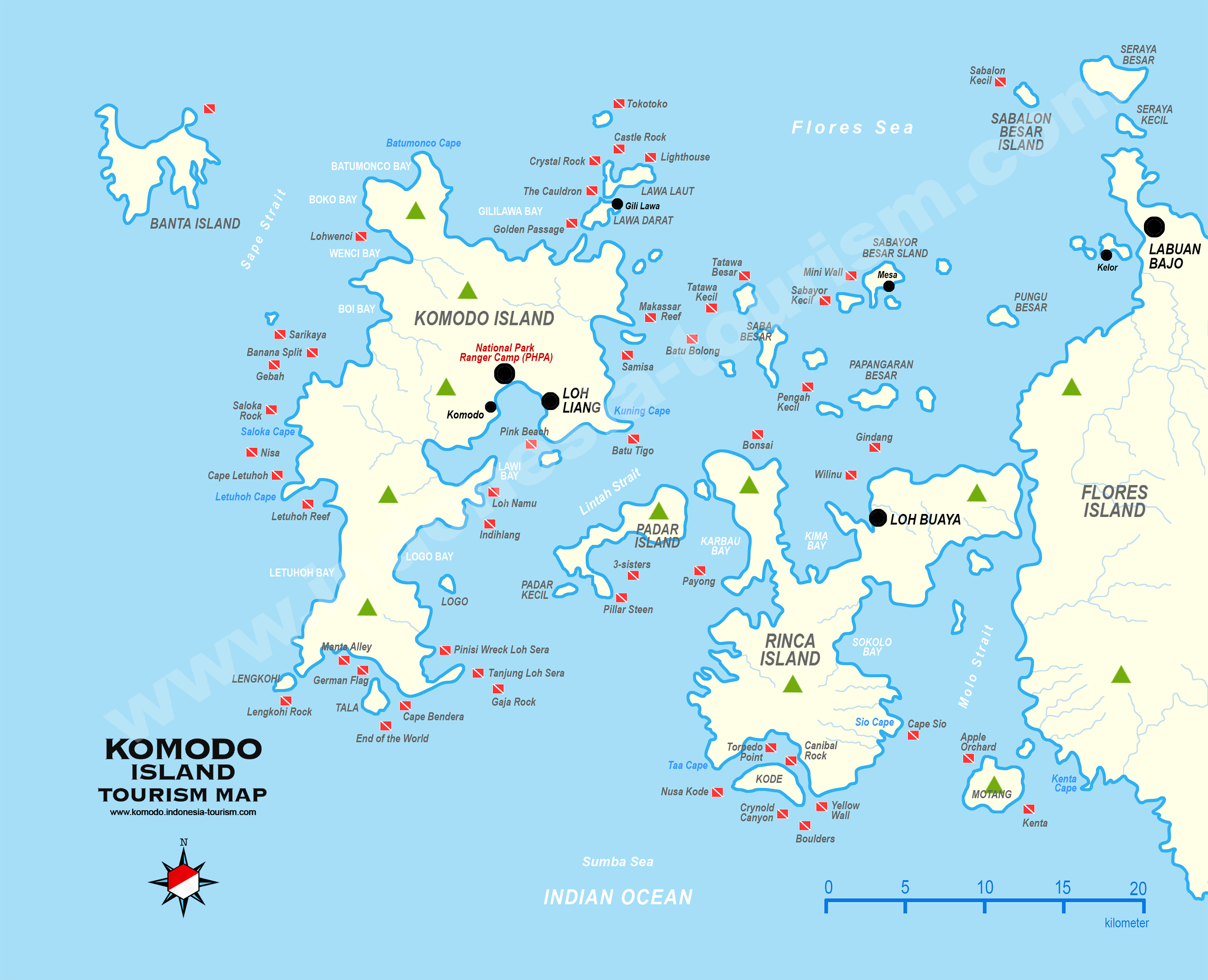 Komodo Island Map